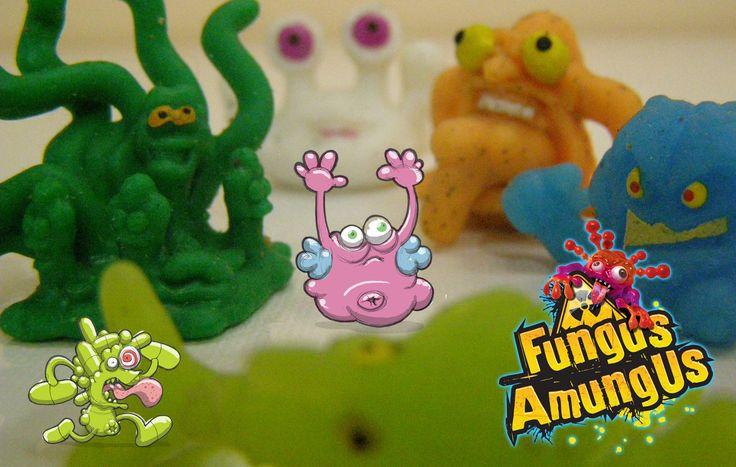 Fungus Amungus Toy Review Липучие микробы лизуны Фунгус Амунгус