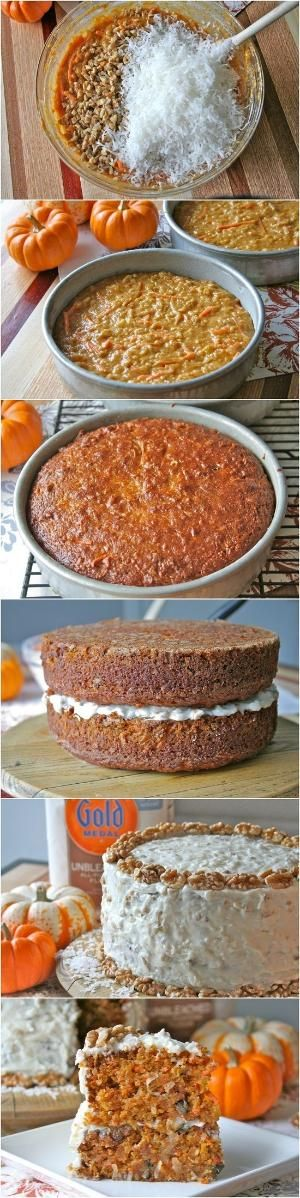 Pumpkin Carrot Cake Recipe by Helmin