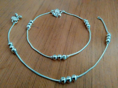 Anklet Payal Ethnic Indian Handmade Barefoot Jewelry Ankle Bracelet pair-10inch #panassh