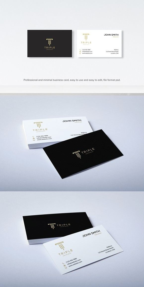 Modern Clean Law Business Card Business Card Design Minimal Graphic Design Business Card Business Card Design Black