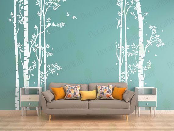 Wall Decal Birch Forest Tree and Birds Nursery Removable Vinyl Stickers, Living room Bedroom Decor, White Art Wall Mural  Wall Decal Birch Forest Tree enhances your little ones room with simplicity and beauty. Wall Decal Birch Forest Tree is a nature inspired wall decal which upgrades your space to another level. Decorate their room as you like, and develop their imagination! And when they grow up, you can remove the Wall Decal Birch Forest Tree easily without any damage to your walls!  Item…