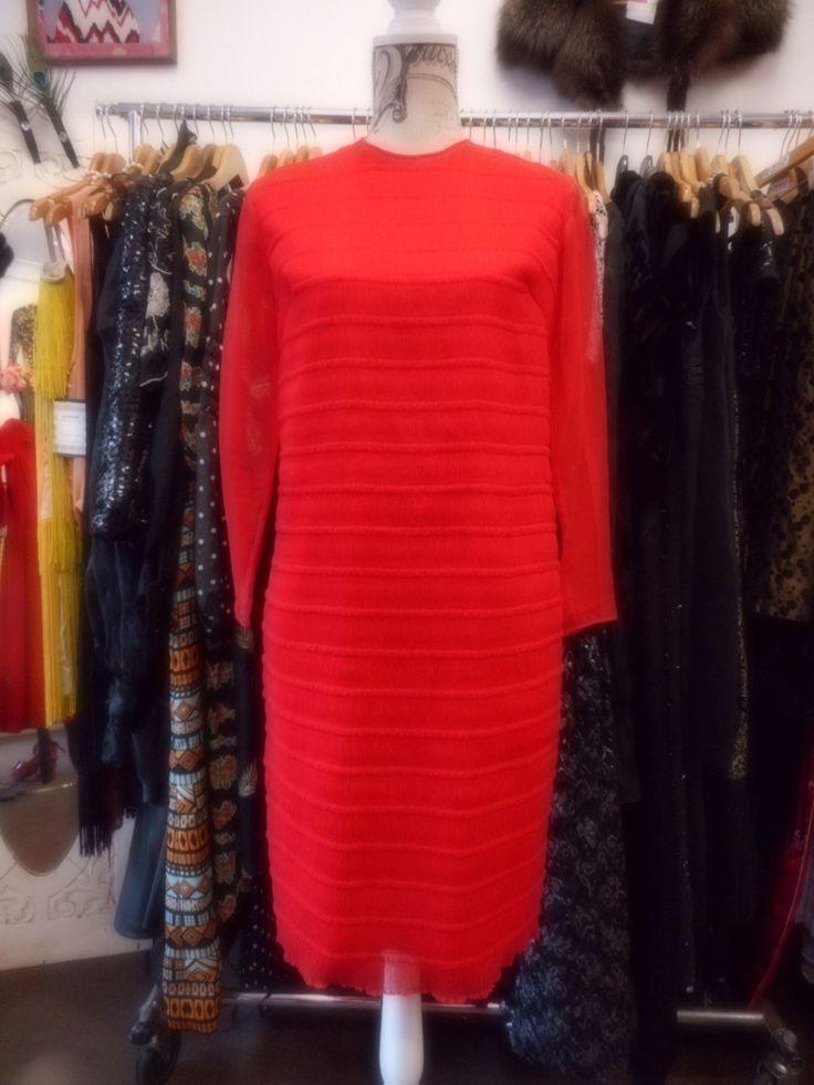 1960's Chiffon dress by recycology on Etsy