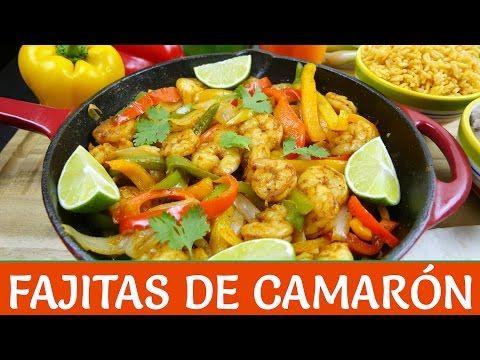 Fajitas de Camarón - Receta Fácil - Mi Cocina Rápida - YouTube