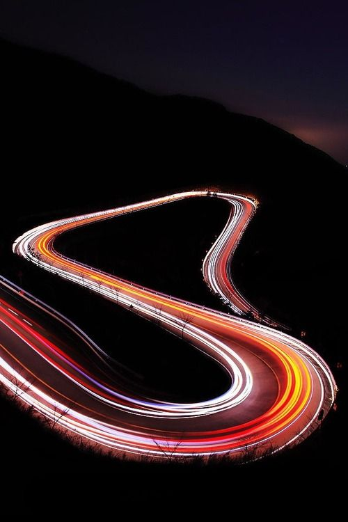 Light trails ... forget the day / drive the night