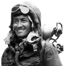Tenzing Norgay (1914–1986) born Namgyal Wangdi and often referred to as Sherpa Tenzing, was a Nepalese Indian Sherpa mountaineer. Among the most famous mountain climbers in history, he was one of the first two individuals known to have reached the summit of Mount Everest, which he accomplished with Edmund Hillary on 29 May 1953.