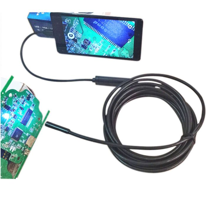 Weekly deals: 5M 6-LED 5.5mm Lens IP67 Waterproof Android Video Endoscope Borescope Snake USB Inspection Camera