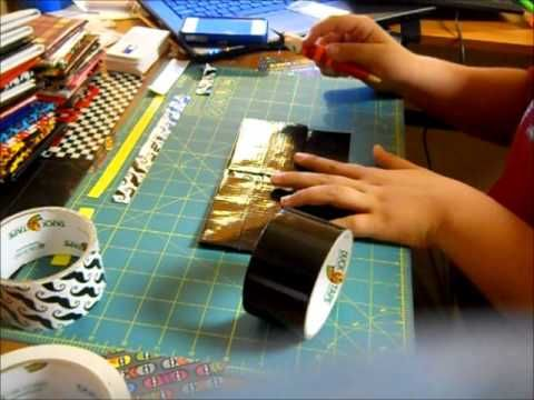 How To Make a Walet using a Duct Tape Sheet - YouTube