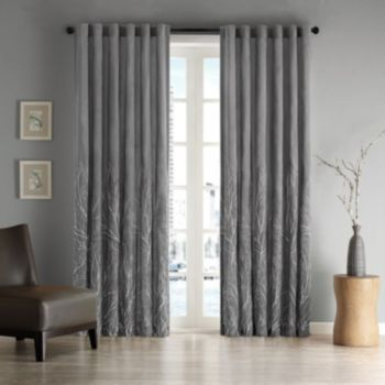 Madison Home USA 1-Panel Eliza Embroidered Window Curtain