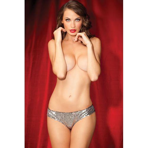 Zilveren slip met pailletten #lingerie #lingeriebestellen #glitter #sprinkleofglitter #sequins #sparkle