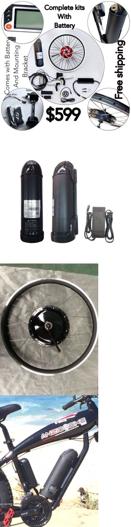 Electric Bicycle Components 177814: Electric Bike 36V,500W Front Wheel Kit With 36V 10Ah Lithium Battery Complete -> BUY IT NOW ONLY: $599 on eBay!