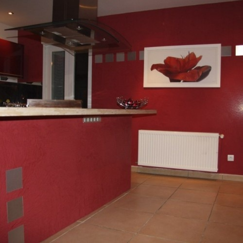 30 best images about red kitchen walls on pinterest for Red wall kitchen ideas