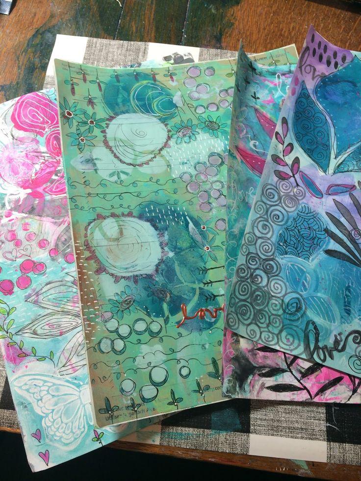 StencilGirl Products tutorial by Guest Designer Carla Devine of heART Journal Magazine