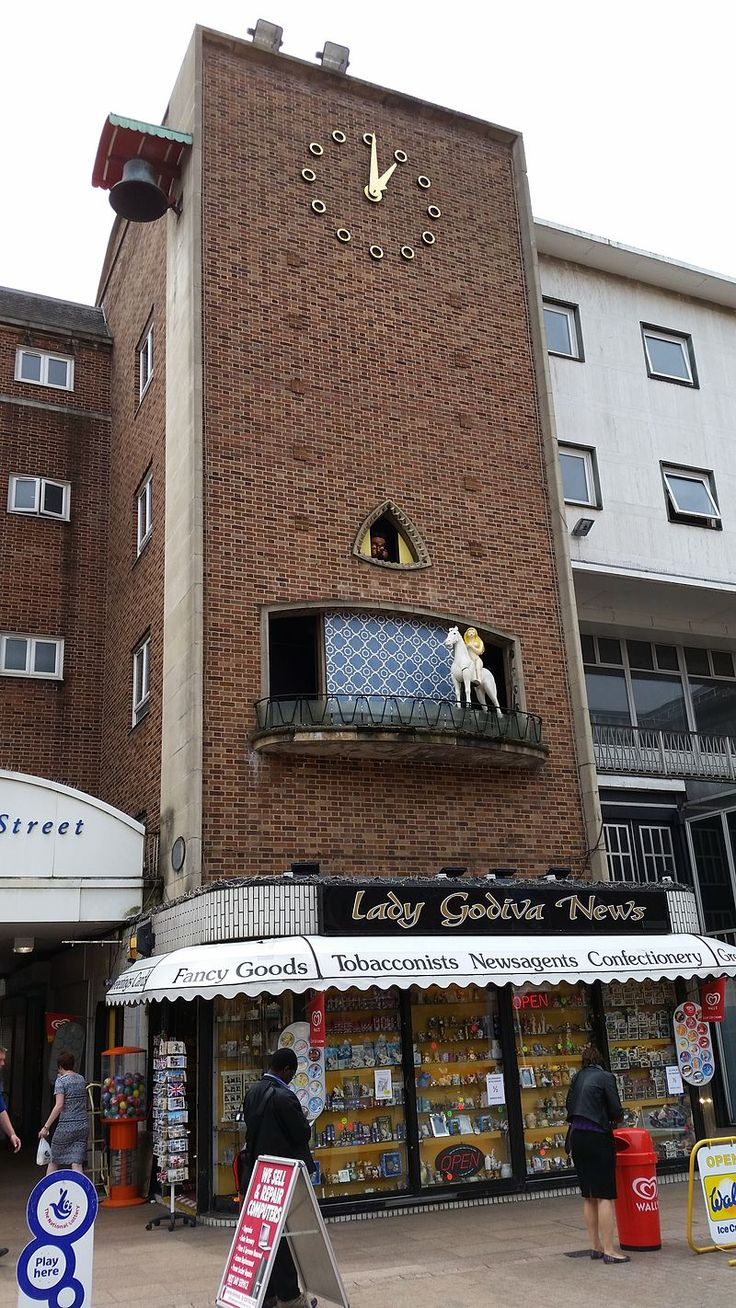 The Lady Godiva Clock in Coventry, England - Lady Godiva - Wikipedia, the free encyclopedia