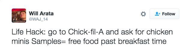 Eat mor chikin like a pro.