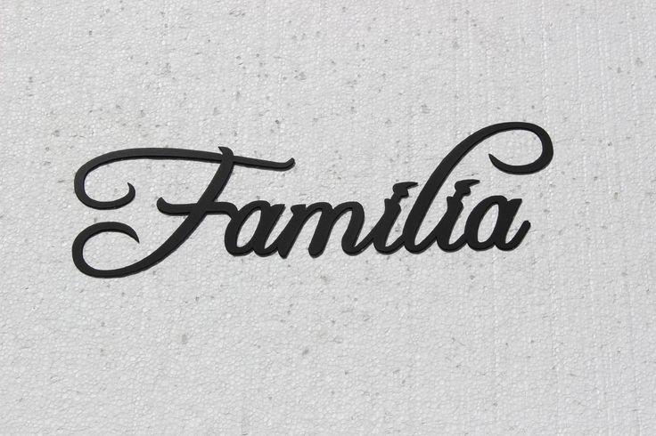 Familia Word Spanish word for Family Black Metal Wall Art Home Decor