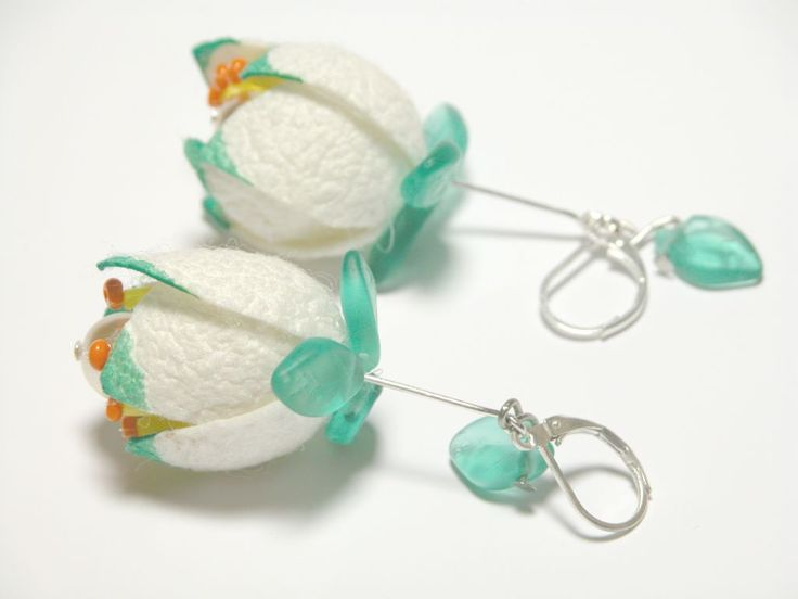 Časopis o korálkování KORÁLKI. - silk cocoon flower earrings (free jewellery tutorial)