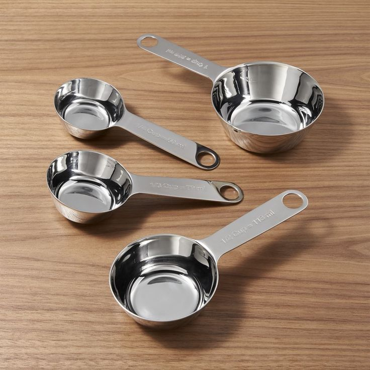 4-Piece Stainless Steel Measuring Cup Set - Crate and Barrel