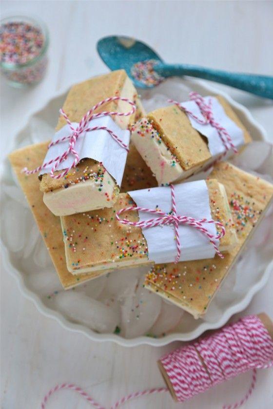 Birthday Cake Ice Cream Sandwiches by countrycleaver #Ice_Cream_Sandwich #Birthday