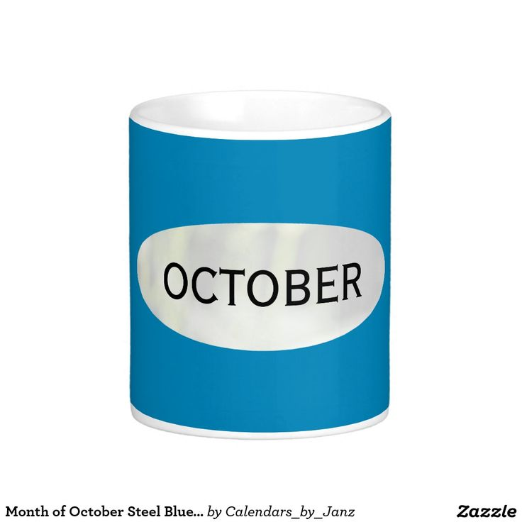 Month of October Steel Blue Coffee Mug by Janz