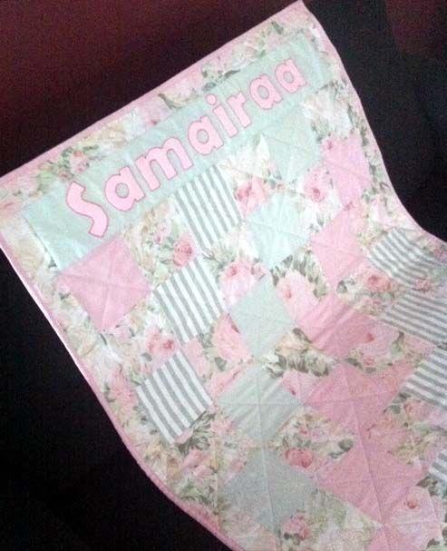 Custom order for baby named Samairaa.
