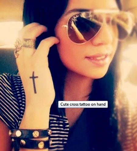 Unique cross tattoo