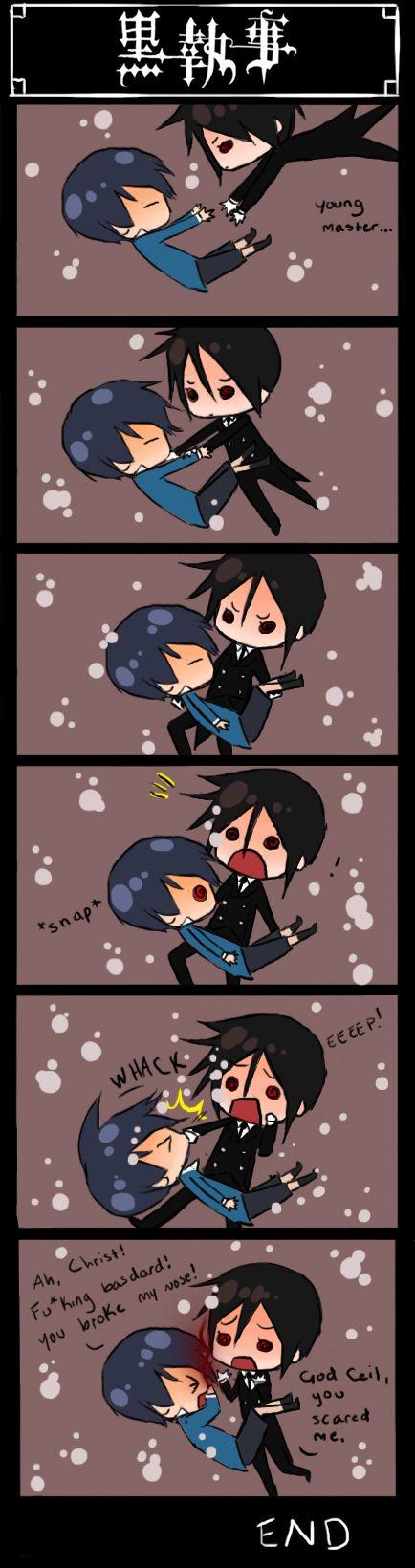 pinterest || ☽ @kellylovesosa ☾last 5 min of Kuroshitsuji II, episode 12 (fan comic by MeexArt)