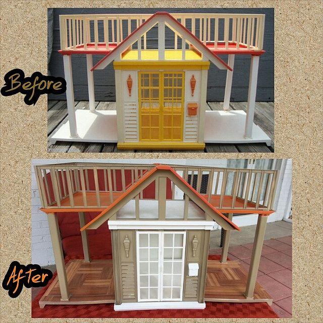 Barbie Dream House Cottage Repaint Ooak