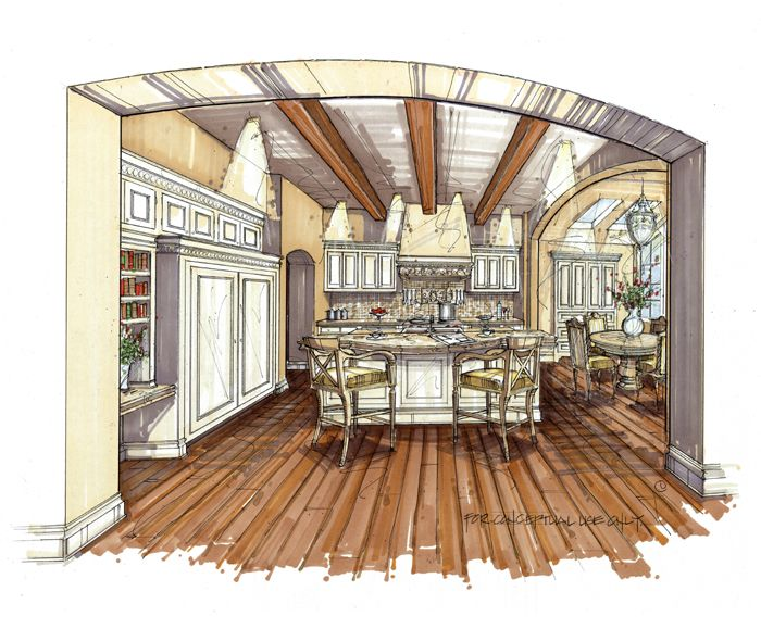 33 best images about manual renderings on pinterest how to draw trees line lesson and mike d for Architectural interior rendering