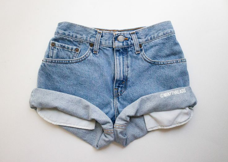 "ALL SIZES Vintage ""HELIOS"" High Waisted Denim Shorts - Mint Threads - 5"