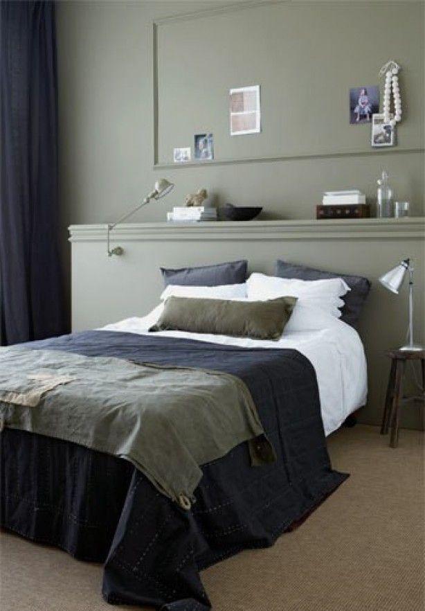 Het bed wordt door de achterwand mooi naar voren geschoven. Ook de kleurcombinatie is erg mooi!