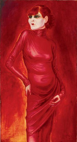 'La bailarina Anita Berber', obra de Otto Dix de 1925.