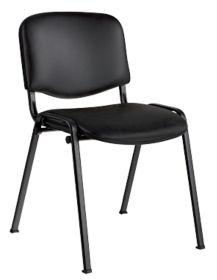 Chaise de reunion Niceday vinyle noir par Office Depot