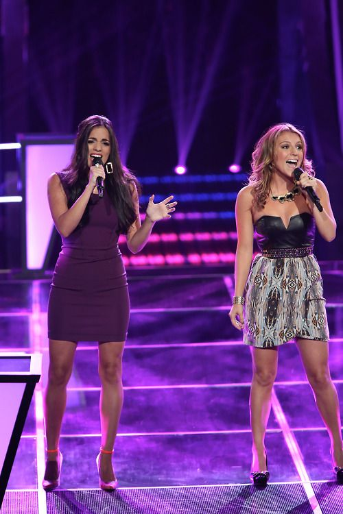 "#TeamXtina's Adriana Louise and Jordan Pruitt were an even match on ""Hot N' Cold!"" #TheVoice"