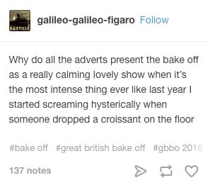 """24 Jokes About """"Bake Off"""" That Are Funny And True @anabeljohnson00 read these!! I'm almost crying with laughter lol"""