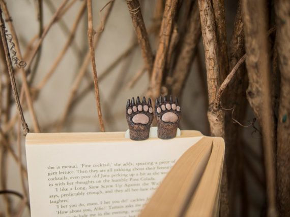 New Bear paws bookmark. Brown bear paws in the book. by MyBookmark