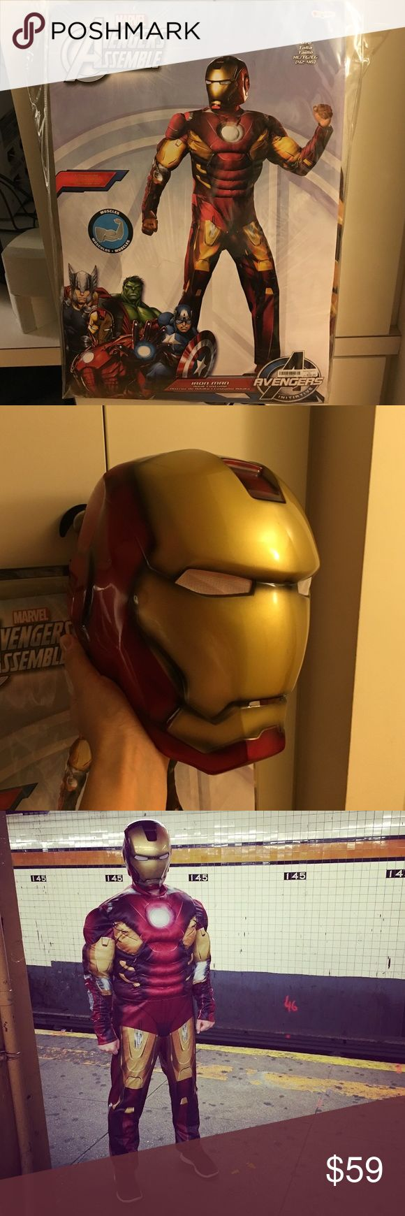 Marvel Avengers Assemble IronMan Halloween costume Only used once, in really good shape, costume has muscles😂😂 super realistic costume, just posted one👌🏻 Marvel Other