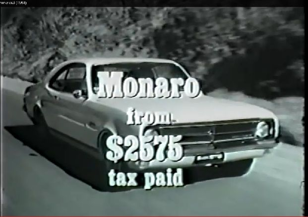 How bout this classic pic from an old Holden Monaro TV ad? The HK Monaro from only $2572 incl tax ... those were the days ... for more monaro madness click onto http://carworldnetwork.com/the-holden-monaro/  #Monaro #HKmonaro #holdenmonaro