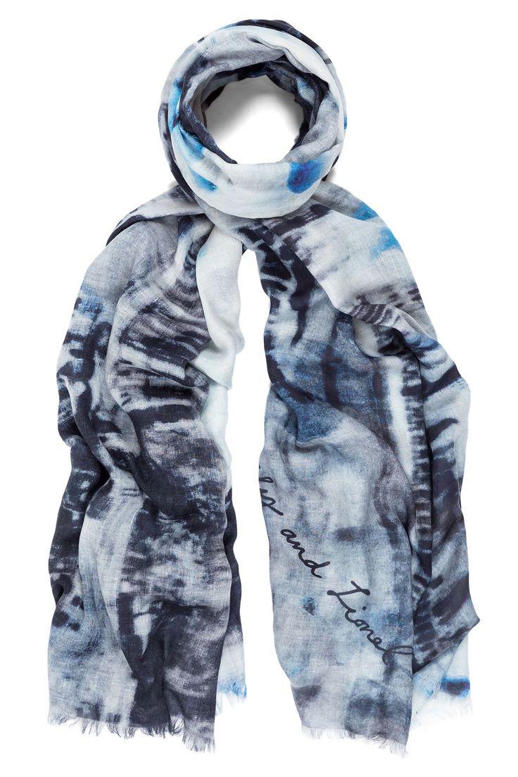 Silk scarf with London print