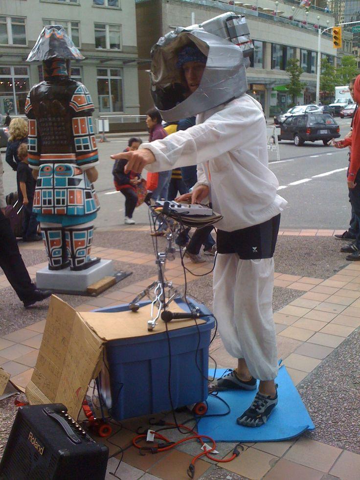 Robot-man performance pretty cool - Vancouver