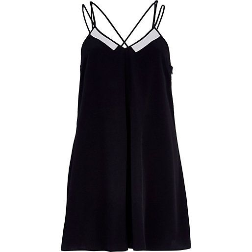 Black strappy babydoll Romper from rive island $30.00
