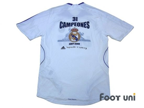 Photo2: Real Madrid 2007-2008 Home Shirt LFP Patch/Badge 31 Campeones Shirt adidas - Football Shirts,Soccer Jerseys,Vintage Classic Retro - Online Store From Footuni Japan