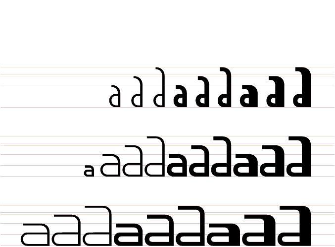 Typographie Kouije, utilisant la phonétique et l'intonation. © Pierre Di Scuillo