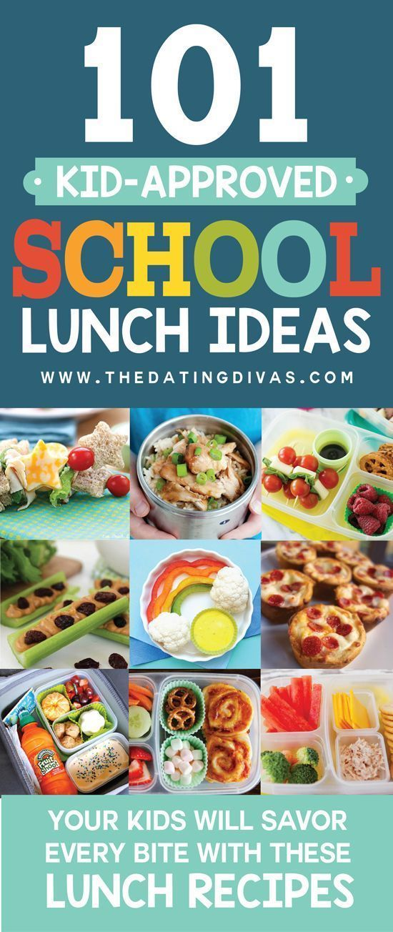 101 Kid Approved School Lunch Ideas! This is totally going to save me this year! Over 100 healthy and easy school lunch ideas for kids! www.TheDatingDivas.com