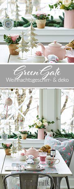 Das Geschirr von GreenGate macht gleich morgens schon gute Laune. Die süßen Weihnachtsbäume findet ihr übrigens hier: https://www.pinkmilk.de/greengate-deko-tannenbaum-in-gold-medium