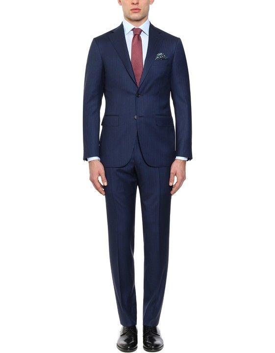 Elegante abito blu in lana-seta | Acquista su Canali.com