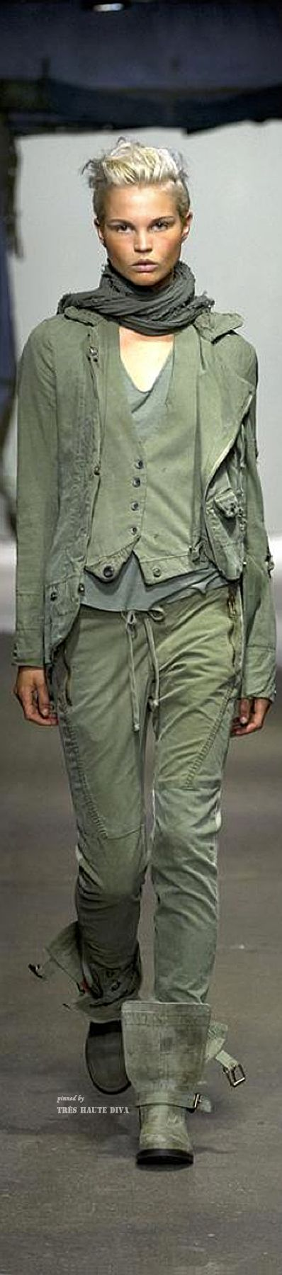 Fashion details | Comment: Androgynous Elements in Olive. Greg Lauren