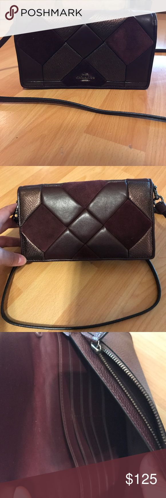 A perfect fit coach clutch model o blood bronze New conditions never used just I recibe a mother day but is not my style. Has 8 slots credit card +two poker inside one zip another regular model #55975DKLDB Coach Bags Crossbody Bags