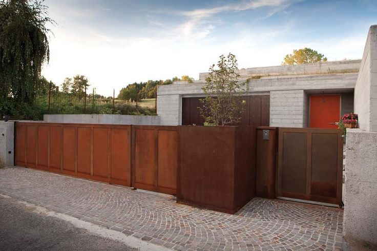 Steel Corten Gate Home Entrance Pesquisa Google Gates