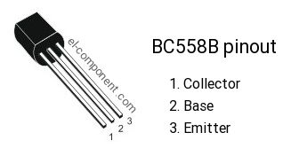 BC558B transistor pinout
