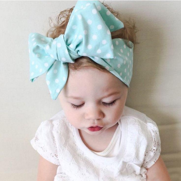 Leuke Baby Meisje Doek Hoofdband Boog haar strik Meisje Headwrap Konijnenoren Boog Elastische Haarband